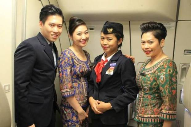 Me with the SQ Cabin Crew